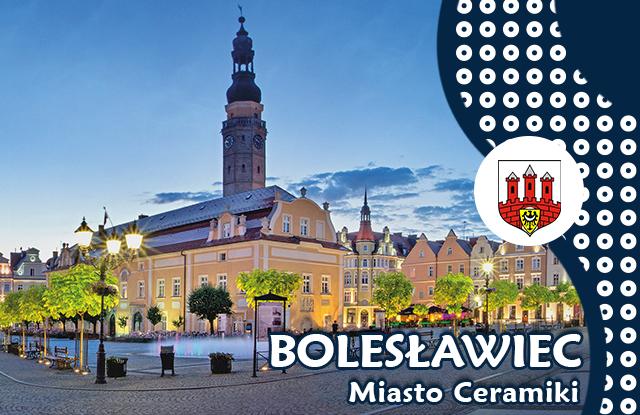 Grafika aplikacji mobilnej miasta Bolesławiec