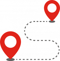 grafika ze szlakiem pomiędzy dwoma punktami